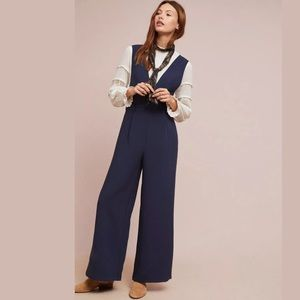 Anthropologie Cartonnier Blue Columnist Jumpsuit M